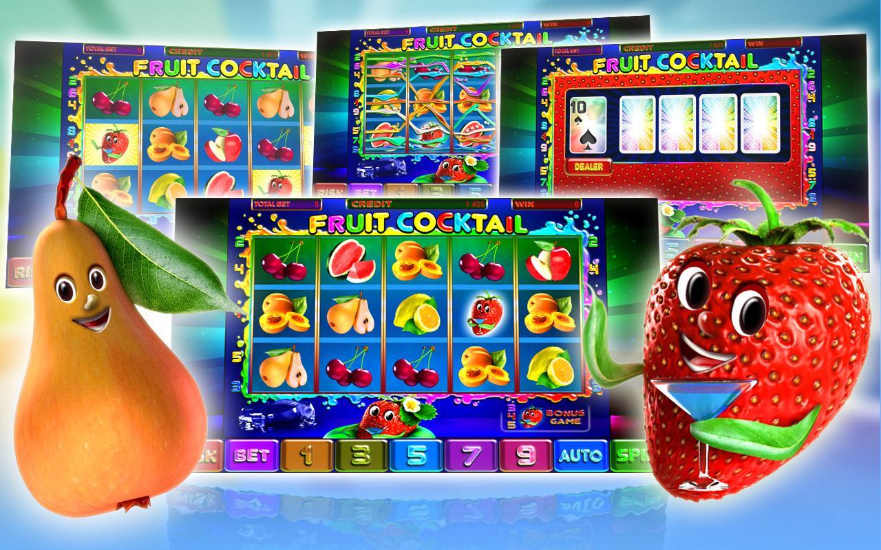 Игровые автоматы Клубника (Фруктовый коктель)